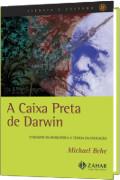 capa do livro Caixa Preta de Darwin, imagem do evolucionista na capa.
